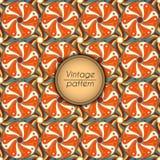 Αφηρημένο ζωηρόχρωμο γεωμετρικό άνευ ραφής σχέδιο Floral σύσταση υποβάθρου Στοκ Εικόνες