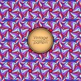 Αφηρημένο ζωηρόχρωμο γεωμετρικό άνευ ραφής σχέδιο Floral σύσταση υποβάθρου Στοκ εικόνα με δικαίωμα ελεύθερης χρήσης