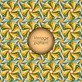 Αφηρημένο ζωηρόχρωμο γεωμετρικό άνευ ραφής σχέδιο Floral σύσταση υποβάθρου Στοκ Φωτογραφίες