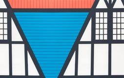 Αφηρημένο ζωηρόχρωμο γεωμετρικό υπόβαθρο σπιτιών/σπιτιών Στοκ φωτογραφίες με δικαίωμα ελεύθερης χρήσης