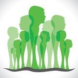 Αφηρημένο ζωηρόχρωμο δάσος ανθρώπων ελεύθερη απεικόνιση δικαιώματος