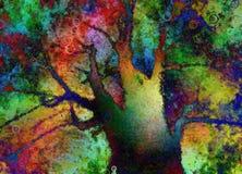 αφηρημένο ζωηρόχρωμο διάνυσμα δέντρων απεικόνισης διανυσματική απεικόνιση