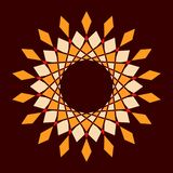 Αφηρημένο ζωηρόχρωμο διανυσματικό πλαίσιο κύκλων στοκ φωτογραφία με δικαίωμα ελεύθερης χρήσης