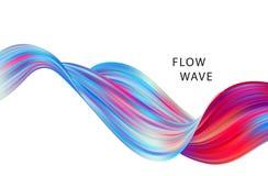 Αφηρημένο ζωηρόχρωμο διανυσματικό υπόβαθρο, υγρό κύμα ροής χρώματος για το φυλλάδιο σχεδίου, ιστοχώρος, ιπτάμενο Στοκ Εικόνες
