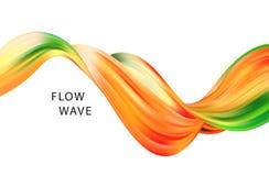 Αφηρημένο ζωηρόχρωμο διανυσματικό υπόβαθρο, υγρό κύμα ροής χρώματος για το φυλλάδιο σχεδίου, ιστοχώρος, ιπτάμενο Στοκ Φωτογραφία