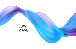 Αφηρημένο ζωηρόχρωμο διανυσματικό υπόβαθρο, υγρό κύμα ροής χρώματος για το φυλλάδιο σχεδίου, ιστοχώρος, ιπτάμενο Στοκ Εικόνα