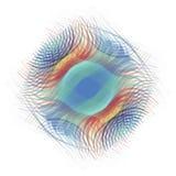 Αφηρημένο ζωηρόχρωμο ελλειπτικό γεωμετρικό ψηφιακό υπόβαθρο Στοκ εικόνα με δικαίωμα ελεύθερης χρήσης