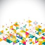 Αφηρημένο ζωηρόχρωμο και δημιουργικό γεωμετρικό πρότυπο στο κατώτατο σημείο για την εταιρικά επιχείρηση ή τα μέσα, το διάνυσμα &  Στοκ Εικόνες