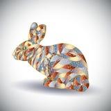 Αφηρημένο ζωηρόχρωμο κουνέλι. ελεύθερη απεικόνιση δικαιώματος