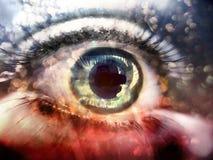 αφηρημένο ζωηρόχρωμο μάτι Στοκ Εικόνα