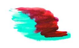 Αφηρημένο ζωηρόχρωμο μικτό υπόβαθρο watercolor που απομονώνεται στο λευκό Στοκ Εικόνα