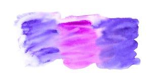 Αφηρημένο ζωηρόχρωμο μικτό υπόβαθρο watercolor που απομονώνεται στο λευκό Στοκ εικόνα με δικαίωμα ελεύθερης χρήσης