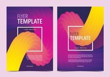 Αφηρημένο ζωηρόχρωμο πρότυπο φυλλάδιων με το τετραγωνικό πλαίσιο Στοκ Εικόνες