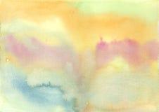 Αφηρημένο ζωηρόχρωμο συρμένο χέρι χρώμα, υπόβαθρο watercolor Στοκ εικόνα με δικαίωμα ελεύθερης χρήσης
