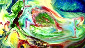 Αφηρημένο ζωηρόχρωμο υγρό καλλιτεχνικό Κίνημα χρωμάτων φιλμ μικρού μήκους