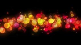 Αφηρημένο ζωηρόχρωμο υπόβαθρο βρόχων μορίων Bokeh 4K ελεύθερη απεικόνιση δικαιώματος
