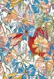 Αφηρημένο ζωηρόχρωμο υπόβαθρο λουλουδιών ελεύθερη απεικόνιση δικαιώματος