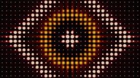 Αφηρημένο ζωηρόχρωμο υπόβαθρο με τα λάμποντας επίκεντρα με μορφές κύκλου και ρόμβου, φωτισμός συναυλίας : απεικόνιση αποθεμάτων