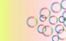 Αφηρημένο ζωηρόχρωμο υπόβαθρο με τους ζωηρόχρωμους κύκλους ελεύθερη απεικόνιση δικαιώματος