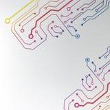 Αφηρημένο ζωηρόχρωμο υπόβαθρο πινάκων κυκλωμάτων. ευθυγραμμισμένη κύκλωμα απεικόνιση σχεδίων Στοκ Εικόνες