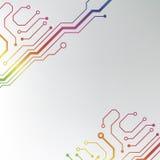 Αφηρημένο ζωηρόχρωμο υπόβαθρο πινάκων κυκλωμάτων. ευθυγραμμισμένη κύκλωμα απεικόνιση σχεδίων Στοκ εικόνα με δικαίωμα ελεύθερης χρήσης