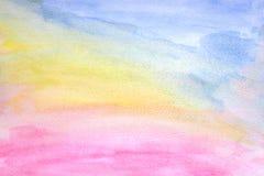 Αφηρημένο ζωηρόχρωμο υπόβαθρο σύστασης watercolor, βουρτσισμένη χρωματισμένη αφηρημένη απεικόνιση υποβάθρου watercolor, σχέδιο κα απεικόνιση αποθεμάτων