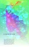 Αφηρημένο ζωηρόχρωμο υπόβαθρο τριγώνων διάνυσμα Στοκ Εικόνες