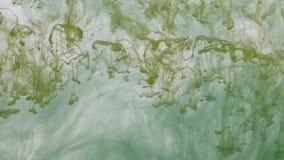 Αφηρημένο ζωηρόχρωμο χρώμα, μελάνι στο νερό χαοτικός απόθεμα βίντεο