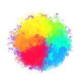 αφηρημένο ζωηρόχρωμο watercolor αν&alpha Σχέδιο τέχνης μελανιού splatter Στοκ Φωτογραφίες