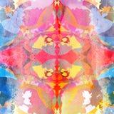 αφηρημένο ζωηρόχρωμο watercolor αν&alpha Στοκ Εικόνα