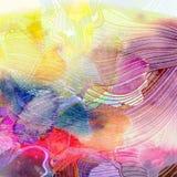 αφηρημένο ζωηρόχρωμο watercolor αν&alpha Στοκ Εικόνες