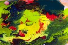 Αφηρημένο ζωηρόχρωμο watercolor στην ανασκόπηση νερού Στοκ Φωτογραφία