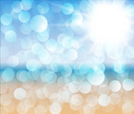 αφηρημένο ηλιόλουστο διάνυσμα απεικόνισης παραλιών Στοκ φωτογραφίες με δικαίωμα ελεύθερης χρήσης