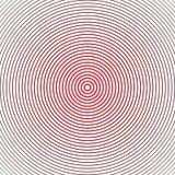 Αφηρημένο ημίτονο υπόβαθρο κύκλων Ημίτονο διάνυσμα γραμμών Μαύρα και κόκκινα λωρίδες στο άσπρο υπόβαθρο απεικόνιση αποθεμάτων