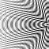 Αφηρημένο ημίτονο υπόβαθρο κύκλων Ημίτονο διάνυσμα γραμμών Μαύρα λωρίδες στο άσπρο υπόβαθρο απεικόνιση αποθεμάτων