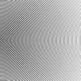 Αφηρημένο ημίτονο υπόβαθρο κύκλων Ημίτονο διάνυσμα γραμμών Μαύρα λωρίδες στο άσπρο υπόβαθρο ελεύθερη απεικόνιση δικαιώματος
