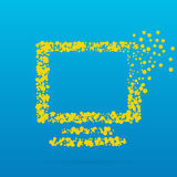 Αφηρημένο δημιουργικό διανυσματικό εικονίδιο έννοιας του οργάνου ελέγχου τον Ιστό και κινητό app που απομονώνονται για στο υπόβαθ Στοκ εικόνα με δικαίωμα ελεύθερης χρήσης
