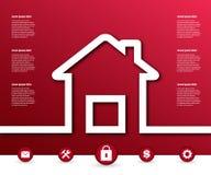 Αφηρημένο δημιουργικό διανυσματικό σπίτι έννοιας για τον Ιστό και τις κινητές εφαρμογές, σχέδιο προτύπων απεικόνισης, επιχείρηση  Στοκ εικόνα με δικαίωμα ελεύθερης χρήσης