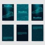 Αφηρημένο δημιουργικό διανυσματικό υπόβαθρο έννοιας των πάνινων παπουτσιών Polygonal επικεφαλίδα και φυλλάδιο ύφους σχεδίου για τ Στοκ εικόνα με δικαίωμα ελεύθερης χρήσης