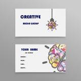 Αφηρημένο δημιουργικό πρότυπο σχεδίου επαγγελματικών καρτών Στοκ εικόνες με δικαίωμα ελεύθερης χρήσης