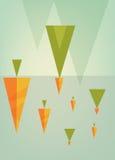 Αφηρημένο δημιουργικό σύνολο υποβάθρου έννοιας διανυσματικό πολύχρωμο, για το σχέδιο φυλλάδιων Στοκ Φωτογραφίες