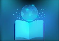 Αφηρημένο ηλεκτρονικό βιβλίο βιβλιοθήκης για το κοινωνικό δίκτυο εκπαίδευσης Στοκ φωτογραφίες με δικαίωμα ελεύθερης χρήσης