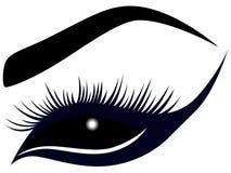 Αφηρημένο θηλυκό μάτι με τα μακροχρόνια μαστίγια απεικόνιση αποθεμάτων