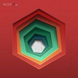 αφηρημένο διάνυσμα ανασκόπ& Hexagon Στοκ Φωτογραφίες