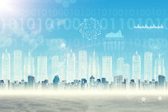 αφηρημένο διάνυσμα απεικόνισης εικονικής παράστασης πόλης ανασκόπησης Στοκ φωτογραφία με δικαίωμα ελεύθερης χρήσης