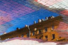 αφηρημένο διάνυσμα απεικόνισης εικονικής παράστασης πόλης ανασκόπησης Στοκ εικόνες με δικαίωμα ελεύθερης χρήσης