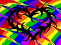 αφηρημένο διάνυσμα ουράνιων τόξων απεικόνισης καρδιών ανασκόπησης Στοκ Φωτογραφία