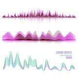 Αφηρημένο διάνυσμα σφυγμού υγιών κυμάτων μουσικής Ψηφιακή απεικόνιση εξισωτών διαδρομής συχνότητας Στοκ Εικόνα