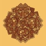 Αφηρημένο διάνυσμα mandala λουλουδιών Στοκ φωτογραφία με δικαίωμα ελεύθερης χρήσης