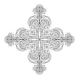 Αφηρημένο διαγώνιο στοιχείο mandala Στοκ Εικόνα